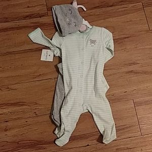Carter's baby girl 3 month mouse footie set nwt